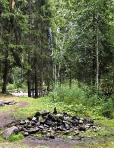 Springkällan utanför Rättvik i Dalarna.